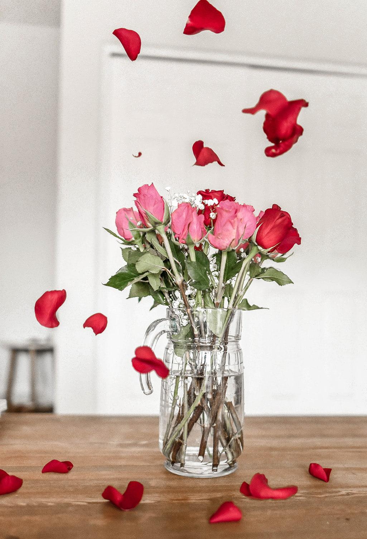 Valentinstag Blumenstrauß